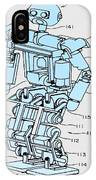 Robot Patent IPhone Case