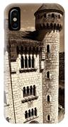 Rocamadour Stone Tower Vertical Panorama Sepia IPhone Case
