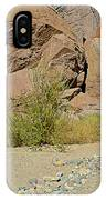 Rock Arrow And Terry Directing Into Ladder Canyon From Big Painted Canyon Trail In Mecca Hills-ca  IPhone Case