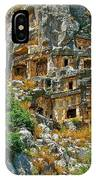 Rock-carved Tombs In Myra-turkey IPhone Case