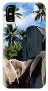 Rock Formations On The Beach, Anse IPhone Case