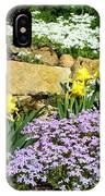 Rock Garden Flowers IPhone Case