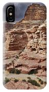 rock landscape with simple tombs in Petra IPhone Case