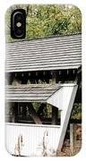 Rock Mill Covered Bridge Ohio IPhone Case