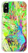 Rock 'n Roll In Crazy-gushing Colours IPhone Case