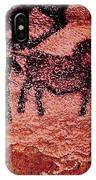 Rock Painting Of Tarpans Ponies, C.17000 Bc Cave Painting IPhone Case