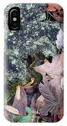 Rock Running Cedar Leaves And Lichen  Natural Abstract IPhone Case