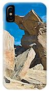 Rock Uplifts In Andreas Canyon In Indian Canyons-ca IPhone Case