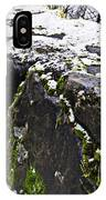 Rock Wall With Moss And A Dusting Of Snow Art Prints IPhone Case