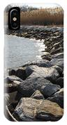 Rocks Along The Shore At Sandy Point IPhone Case