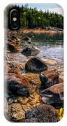 Rocks At Shore Of Georgian Bay IPhone Case
