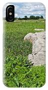 Rocks In A Tall Grass Prairie In Pipestone National Monument-minnesota IPhone Case