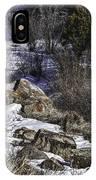 Rocks In Snow IPhone Case