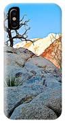 Rocks In Sun And Shade Along Barker Dam Trail In Joshua Tree Np-ca- IPhone Case