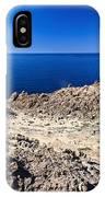 rocky coast in San Pietro island IPhone Case