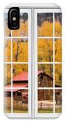 Rocky Mountain Autumn Ranch White Window View IPhone Case