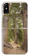 Rocky Mountain Forest Window View IPhone Case