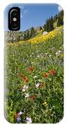 Rocky Mountain Wildflower Landscape IPhone Case