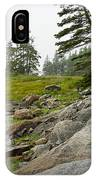 Rocky Shore By The Narrows To Mount Desert Island IPhone Case