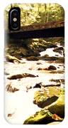 Rocky Stream With Bridge IPhone Case