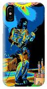 R P  And The Ufo At The Castle Made Of Sand IPhone Case