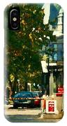 Roddick Gates Painting Mcgill University Art Students Stroll The Grand Montreal Campus C Spandau IPhone Case