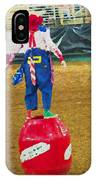 Rodeo Barrel Clown IPhone Case