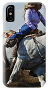 Rodeo Barrel Racer IPhone Case