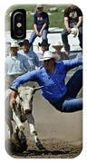 Rodeo Steer Wrestling IPhone Case