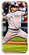 Roger Clemens Painting IPhone Case
