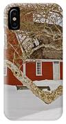 Roger Williams Cottage In Winter IPhone Case