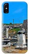 Roman Theatre In Pergamum-turkey  IPhone Case