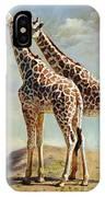 Romance In Africa - Love Among Giraffes IPhone Case