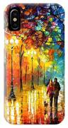 Romantic Stroll - Palette Knlfe Oil Painting On Canvas By Leonid Afremov IPhone Case