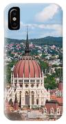 Rooftop Of Parliament Building In Budapest IPhone Case