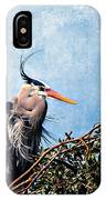 Rookery Great Blue IPhone Case