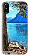 Rooted In Lake Minnewanka IPhone Case