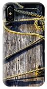 Rope And Wood Sidelight Textures IPhone Case