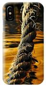 Rope On Liquid Gold IPhone Case