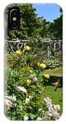 Rose Garden And Trellis IPhone Case