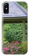 Rose Garden Gazebo IPhone Case