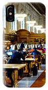 Rose Main Reading Room New York Public Library IPhone Case