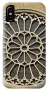 Rose Of The Cathedral Of San Giusto IPhone Case