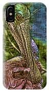 Roseate Spoonbill Art IPhone Case
