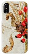 Rosehips And Grasses IPhone Case
