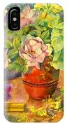 Roses And Pansies IPhone Case