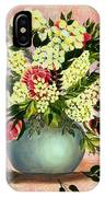 Roses And White Lilacs IPhone Case
