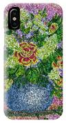Roses And White Lilacs Lacy Bouquet Digital Painting IPhone Case