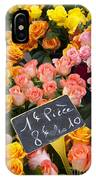 Roses At Flower Market IPhone Case