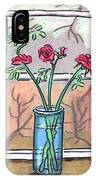 Roses In A Glass Vase IPhone Case